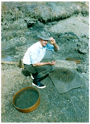 Rod Cook fossicking around 1974